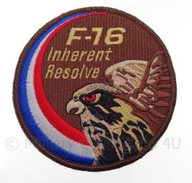 "KLu Koninklijke Luchtmacht F-16 ""Inherent Resolve"" -  met klittenband - diameter 10 cm"