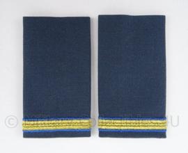 KLu Luchtmacht Ceremonieel Tenue  schouder epauletten - rang Adjudant - afmeting 5 x 10 cm - origineel
