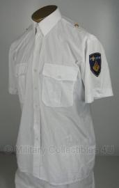 Nederlandse Politie wit overhemd, korte mouw MET EMBLEMEN - Dames of Heren - origineel