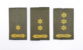 Set van 3 verschillende GVT enkele epauletten voor officieren - 8 x 4,5 cm - origineel