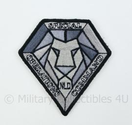 KL Nederlandse leger NLD SOCOM Netherlands Special Operations Command embleem - met klittenband - 8 x 8,5 cm