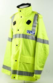 Britse Politie Police  POLICE STAFF fluor geel jack met portofoonhouders -  maat XL - origineel