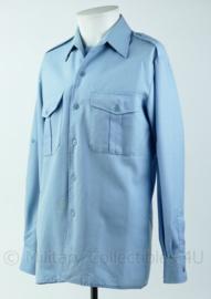 Lichtblauw overhemd Franse politie  - Maat 39 - Origineel