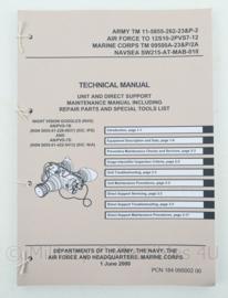 US Army manual voor de nachtkijker model PVS-7B en PVS-7D -30 x 21,5cm - origineel