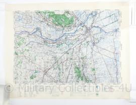 Wo2 Britse War Office Stafkaart van Zwolle uit 1945 - Schaal 1:50000 -  60 x 75 cm - origineel