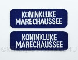 KMAR Marechaussee straatnaam embleem paar - 3 x 8 cm - ONGEBRUIKT - origineel