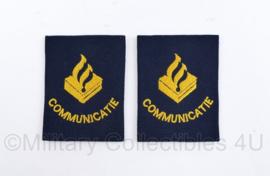 Politie communicatie epauletten PAAR - huidig model - 7,5 x 5,5 cm - origineel