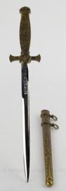 Antieke versierde dolk replica -  goud - 38 cm - origineel