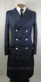 BW overjas mantel Luftwaffe - met dubbele rij zilveren knopen - ook als wo2 model - origineel