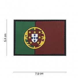 Uniform landsvlag Portugal embleem 3D PVC -  klittenband - 7,9 x 5,4  cm