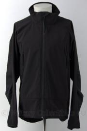 Militaire softshell jas zwart - ongedragen - maat XL - origineel