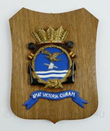 Wandbord  Koninklijke Marine Squadron V Amat Victoria Curam IGGW - 19 x 14 x 1 cm - origineel