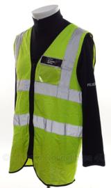 Politie UK Border Agency hesje geel reflecterend  - origineel