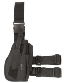 Holster laag RECHTS drop leg holster zwart