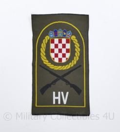 Kroatisch leger embleem  HV - 7,5 x 12 cm - origineel