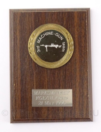 KL Nederlandse leger Markmanship 1e GE/NLD Corps 1996 wandbord - 13 x 18 cm - origineel