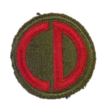 US Army 85th Infantry Division patch - cut edge - 5,5 cm diameter - origineel