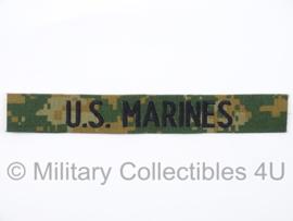 """USMC """"US Marines"""" branch tape/naamlint - marpat woodland camo - nieuw gemaakt"""
