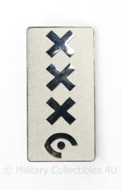 Pet insigne handhaving Amsterdam - 5 x 2,5 cm - origineel