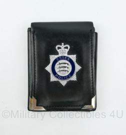 Britse Politie brevet in lederen houder Essex Police - 11,5 x 9 cm - origineel