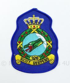 KLU Luchtmacht RNLAF 326 Squadron embleem - Sicut Serpens - 11 x 8 cm - origineel