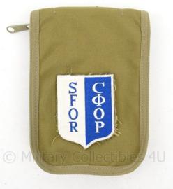 KL Koninklijke Landmacht SFOR coyote organiser met waterproof notebook - 18 x 13 cm - coyote - origineel
