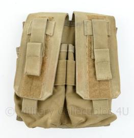 Defensie en Korps Mariniers en US Army Coyote Molle pouch double magazin M4 en Diemaco - 20 x 17 x 5 cm - origineel