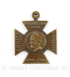 Medaille 1898 - 1948 Comité Kroningstad 1948 Amsterdam - 3,5 x 2,5 cm - origineel