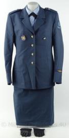 KLu Luchtmacht Dames DT Uniform set jas, overhemd, rok en handschoenen - maat 42 - origineel