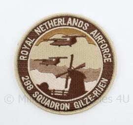 KLU Luchtmacht RNLAF Royal Netherlands Airforce 298 Squadron Gilze-Rijen embleem - met klittenband - diameter 9 cm