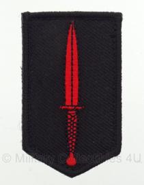 KL Korps Commandotroepen DT uniform embleem - met klittenband - 7,5 x 4,5 cm