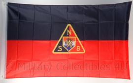 NSB vlag polyester - replica - 90 x 150 cm.