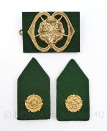 Defensie baret en kraag insigne set MILVA Militaire vrouwen afdeling - 3 delige set - origineel