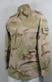 Korps Mariniers desert camo basis jas met straatnaam - gedragen - maat 8000/9500 - origineel