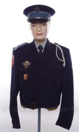 Politie Frankrijk uniform SET jasje en pet - met originele insignes en medailles - rang Gardien 2V - maat M - origineel