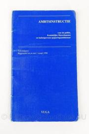 KMAR Koninklijke Marechaussee Ambtinstructie boek - origineel