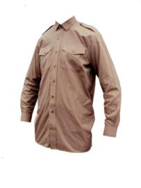 Brits Leger HEREN Overhemd DONKER khaki - licht gebruikt - maat 36 tm. 47- origineel