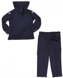 Pools donkerblauw Marine Matrozen hemd  MET broek - meerdere maten  -  origineel