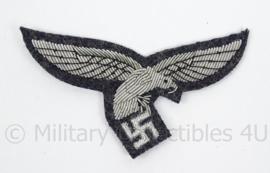 Luftwaffe borstadelaar blauw - officier - 1e model met droptail hangende staart