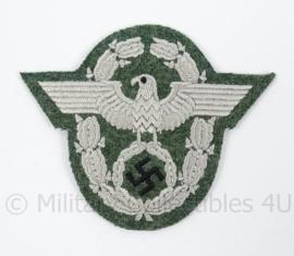 Polizei Officiers embleem Feldgrau/ zilver - replica wo2 Duits