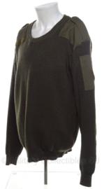 KL leger Commando trui groen ZONDER vlaggetje - ronde hals - HUIDIG model - maat 6 - origineel