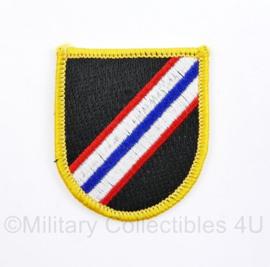 US Army naoorlogse cap beret flash 1st Special Forces Group - 6 x 5 cm - origineel