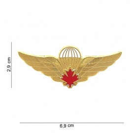 Parawing Parachutist Badge Canada metaal - 6,9 x 2,9 cm.