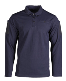 Tactical Quick Dry Poloshirt lange mouw - met klittenband op de mouwen - BLAUW - nieuw gemaakt