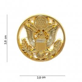 US Army post war Enlisted visor cap insignia Goud-  metaal - 3,8 x 3,8 cm.