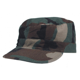 US Army BDU field cap Woodland camo STONEWASHED - maat M, L of XL