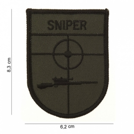 Sniper uniform arm embleem stof - met klitteband - 8,3 x 6,2 cm.