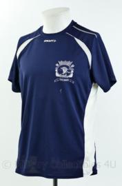 Korps Mariniers T-shirt met korte mouw - 2e amfibische gevechtsgroep - Craft - blauw met wit - maat Large - gedragen - origineel
