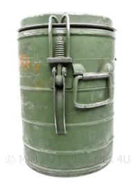 Defensie gamel voor eten - inhoud 10/15 Liter - 42 x 29 cm - origineel