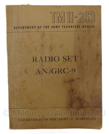 TM11-263 Department of the army technical manual - Radio Set AN/GRC-9 - origineel 1951